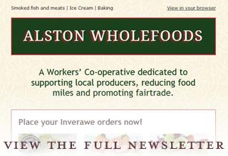 Alston Wholefoods enewsletter