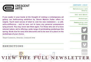 Crescent Arts enewsletter