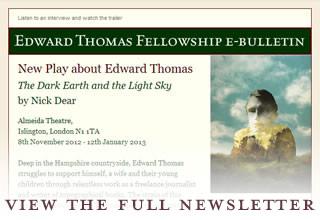Edward Thomas Fellowship enewsletter