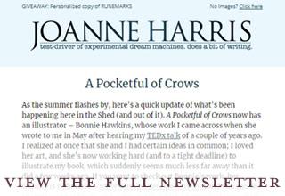 Joanne Harris enewsletter